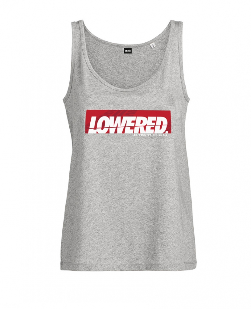 Girls New Lowered Oversize Tank Top Grey