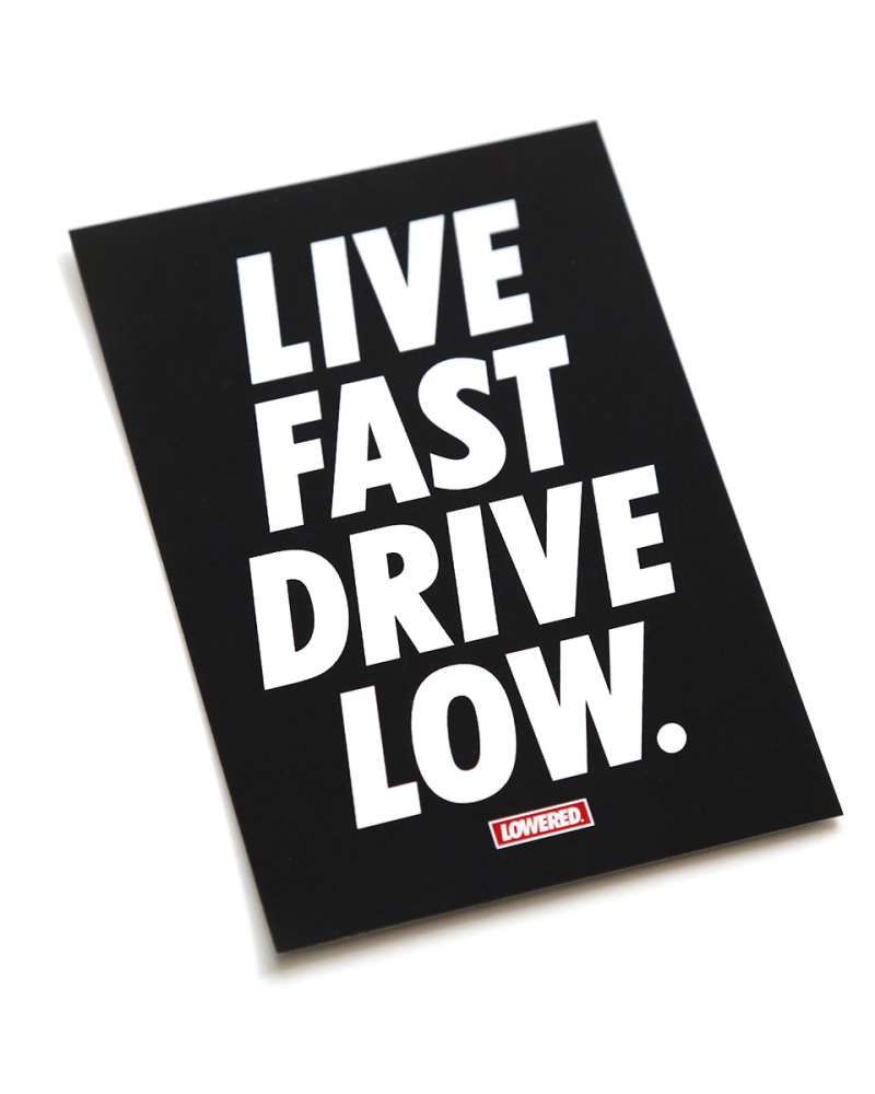 LWSFCK® Live Fast Sticker Black