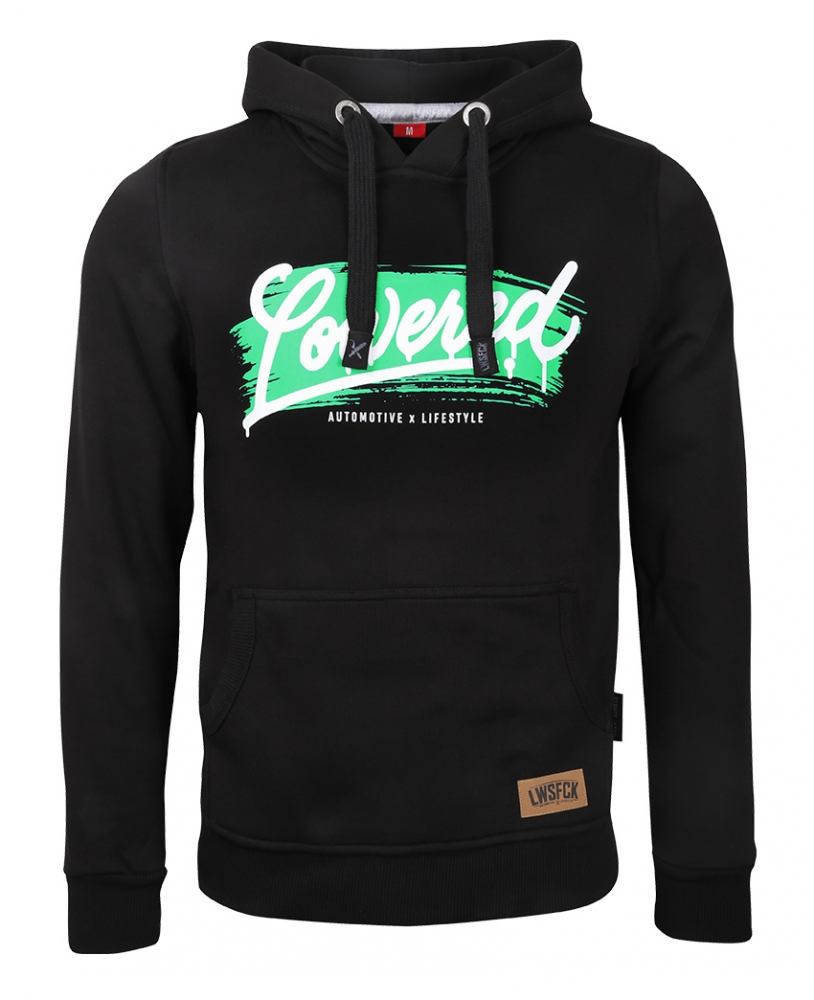 LWSFCK® LOWERED BRUSH HOODIE BLACK