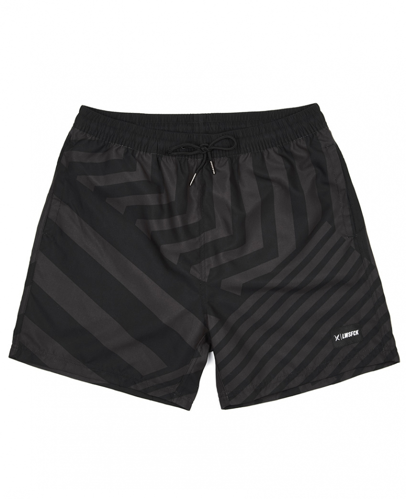 LWSFCK® DAZZLE SWIMSHORTS - BLACK GREY