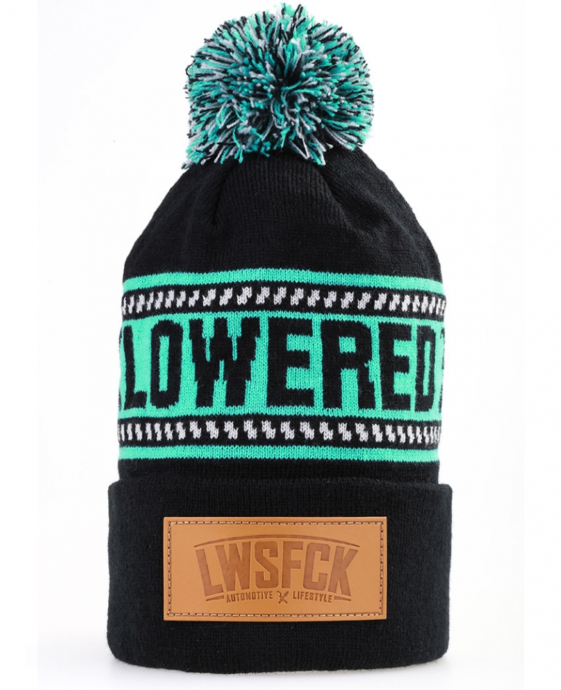LWSFCK® Bobble Beanie - Black Mint
