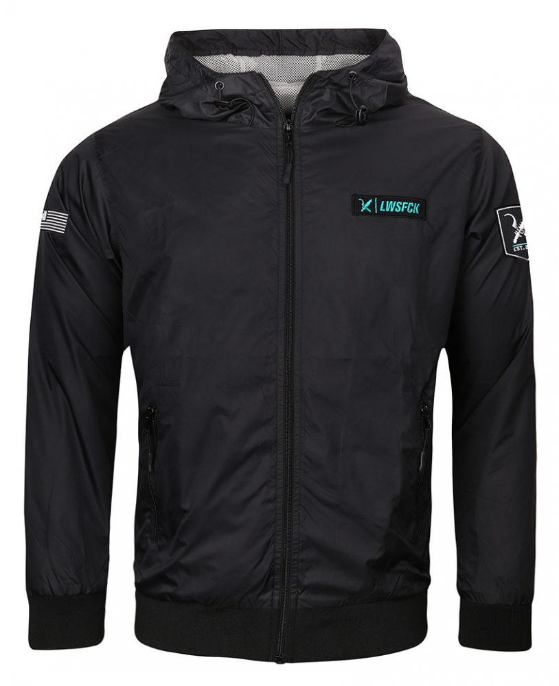 LWSFCK® Crew Windbreaker - Black