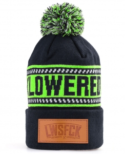 LWSFCK® Bobble Beanie - Navy Lime