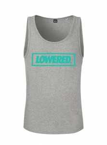 Men Lowered Tank Top - Light Grey