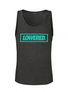 Men Lowered Tank Top - Dark Grey