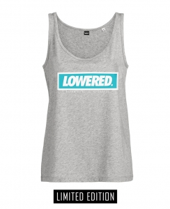 Girls Lowered Oversize Tank Top - Grey/Mint